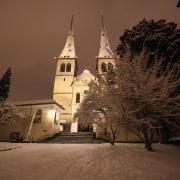 Hofkirche im Winter