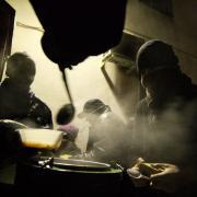 distribution de repas chaud