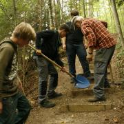 Bauarbeiten auf dem Holzweg