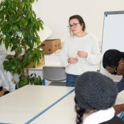 Atelier de Français donné par le binôme de bénévoles