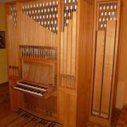 Orgel im Kirchgemeindehaus in Savognin